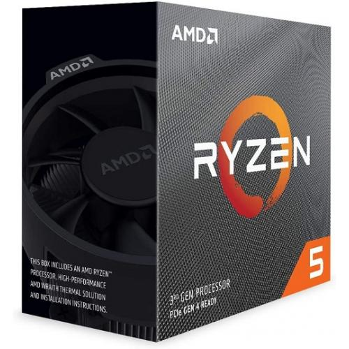 AMD Ryzen 5-3600 Unlocked Desktop Processor w/ Wraith Stealth Cooler - 12 Threads & 6 Cores - 3.6 GHz- 4.20 GHz Clock Speed - Wraith Stealth Thermal Solution - PCIe 4.0 x16 Express Version - 3200MHz Memory Specification