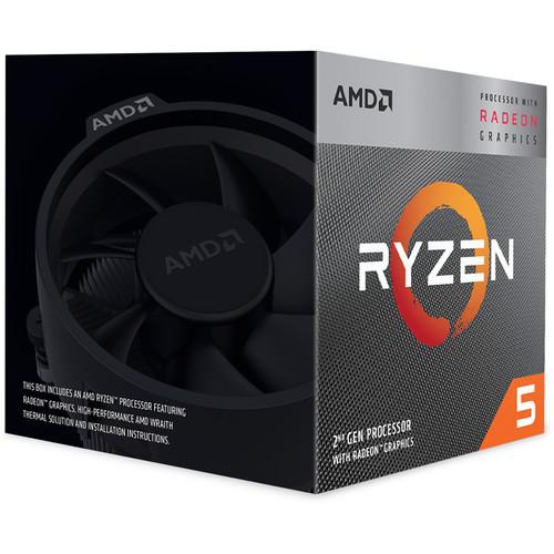 AMD Ryzen 5 3400G Unlocked Desktop Processor With Radeon RX Graphics   4 Cores & 8 Threads   3.7 GHz  4.2 GHz CPU Speed   4 MB L3 Cache   PCIe 3.0 Ready   Radeon RX Vega 11 Graphics