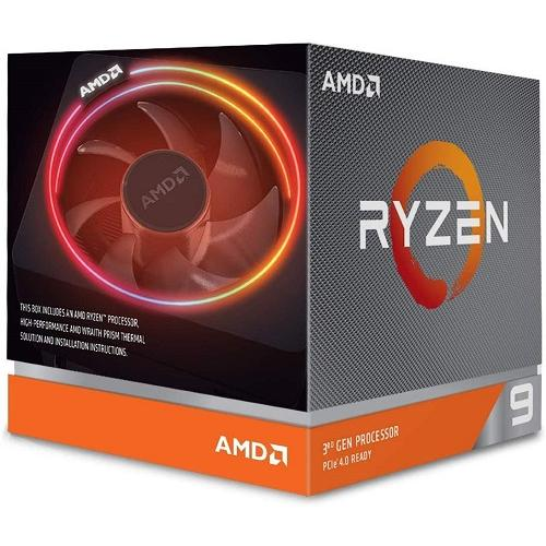 AMD Ryzen 9 3900X Unlocked Desktop Processor W/ Wraith Prism LED Cooler   12 Cores & 24 Threads   3.8 GHz  4.6 GHz CPU Speed   64MB L3 Cache   PCIe 4.0 Ready   7nm Process Technology