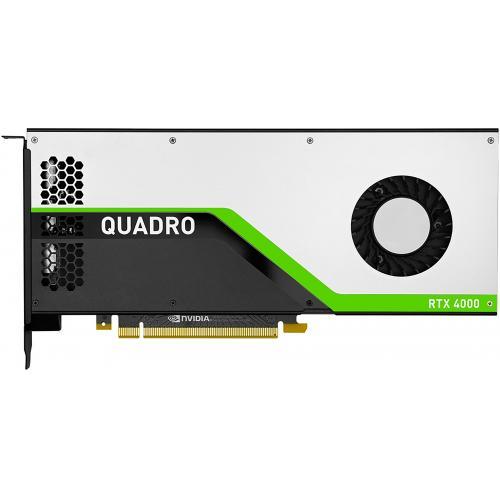 HP NVIDIA Quadro RTX 4000 8GB GDDR6 Graphics Card - 8GB GDDR6 Memory - 256 bit Bus Width - 3 x DisplayPort1.4 - 36 TY Cores + 288 Tensor Cores