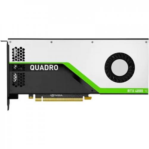 HP NVIDIA Quadro RTX 4000 8GB GDDR6 Graphics Card   8GB GDDR6 Memory   256 Bit Bus Width   3 X DisplayPort1.4   36 TY Cores + 288 Tensor Cores