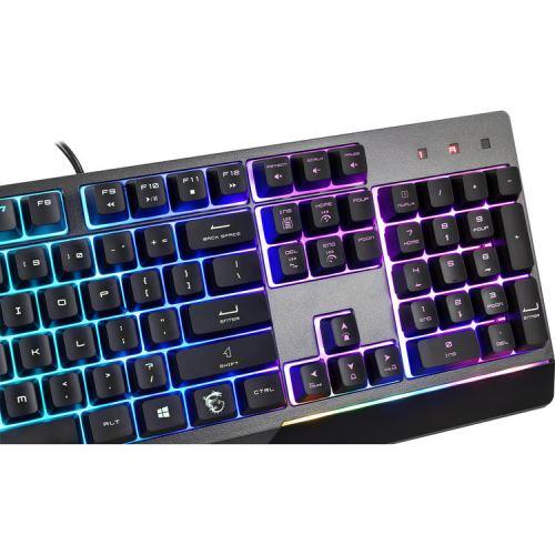 MSI VIGOR GK30 Gaming Keyboard   USB 2.0 Interface   12+ Million Keystroke Life   6 Keys Rollover & 20 Anti Ghosting   Stunning RGB Lighting Effects In 6 Areas   Fine Tune Detailed Settings With Dragon Center