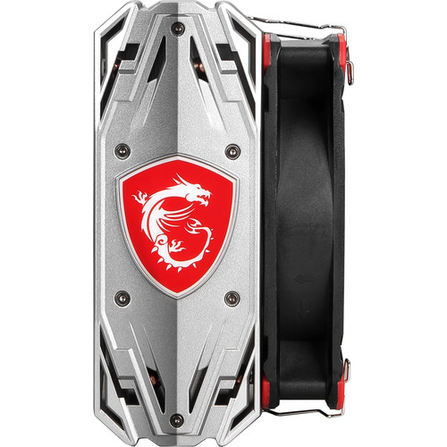 MSI Core Frozr S Gaming CPU Cooling Fan   500 1800 RPM   Four Direct Contact Heat Pipes   Design For Intel And AMD CPU   120mm Fan Compatible W/ Fan Clips   2 Sets Of Fan Clips