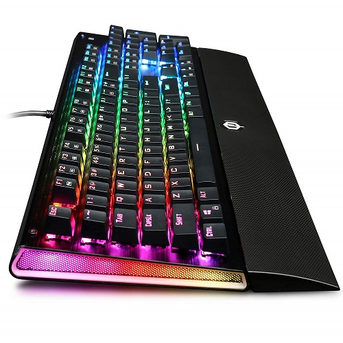 CyberPowerPC Skorpion K2 RGB Mechanical Gaming Keyboard With Kontact Blue (Clicky) Switches   104 Individual Key Backlighting   Built In EZ Key Remover   100% Anti Ghosting   Supports 16.8 Million Colors   Clicky And Tactile Mechanical Switches