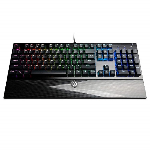 CyberPowerPC Skorpion K2 RGB Mechanical Gaming Keyboard With Kontact Brown (Tactile) Switches   104 Individual Key Backlighting   Built In EZ Key Remover   100% Anti Ghosting   16.8 Million Colors   12 Macro Keys