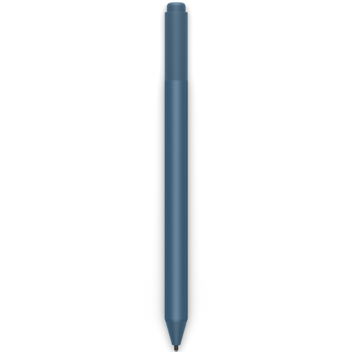 Microsoft Surface Pen Ice Blue - Tilt the tip to shade your drawings - Writes like pen on paper - Sketch, shade, and paint with artistic precision - Ink flows out in real time with no lag or latency - Rubber eraser rubs away your mistakes easily