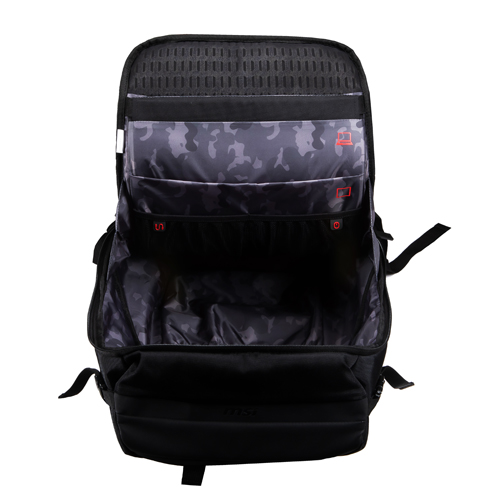"MSI Urban Raider Gaming Backpack Black   Fits Up To 17"" Laptops   Rated IPX2 For Water Resistance   Lightweight Polyester Exterior   Padded Mesh Back Panel Of Enhanced Comfort   Quick Access Top Pocket For Small Accessories"