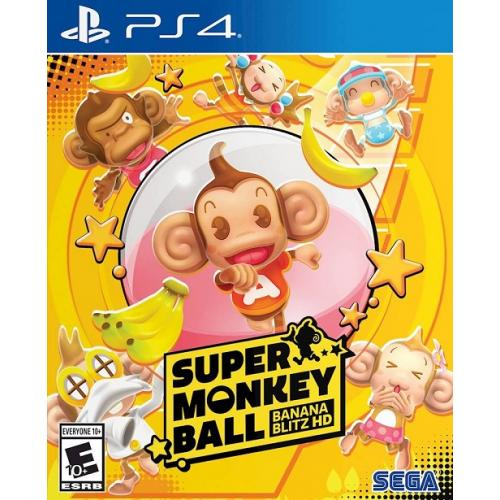 Sega Super Monkey Ball: Banana Blitz HD for PS4 - PlayStation 4 - Action/Adventure and Puzzle Game - Rated E10+ - Multiplayer Supported - Fully Remastered Gameplay