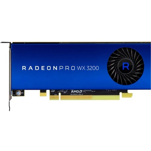 AMD Radeon Pro WX 3200 Graphic Card   4 GB GDDR5 VRAM   1.25 To 1.30 GHz Core   640 Stream Processors   128 Bit Bus Width   Polaris Architecture