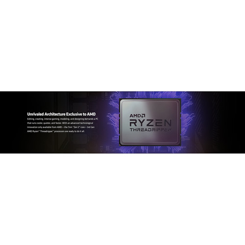 AMD Ryzen Threadripper 3990X Unlocked Desktop Processor   64 Cores & 128 Threads   2.9 GHz  4.3 GHz CPU Speed   256 MB L3 Cache   PCIe 4.0 Ready   NVMe RAID Support