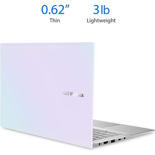 "ASUS VivoBook S14 14"" Laptop Intel Core I5 8GB RAM 512GB SSD Dreamy White   10th Gen I5 10210U Quad Core   Intel UHD Graphics   Built In Stereo Speakers   Durable Metal Casing   Windows 10 Home"