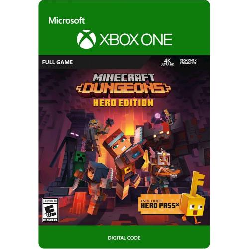 Minecraft Dungeons Hero Edition Xbox One (Digital Download) - For Xbox One- Email Delivery - ESRB Rated E10+ - Action/Adventure Game - Multiplayer Supported - Releases 5/26/2020