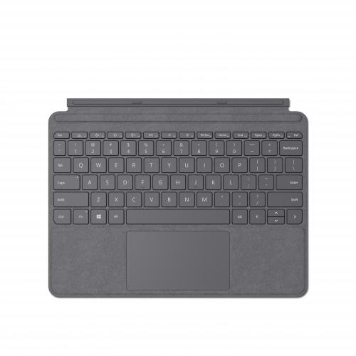 Microsoft Surface Go Signature Type Cover Platinum - Pair w/ Surface Go - A full keyboard experience - Close to protect screen & conserve battery - Fold back for tablet mode - Made w/ Alcantara material