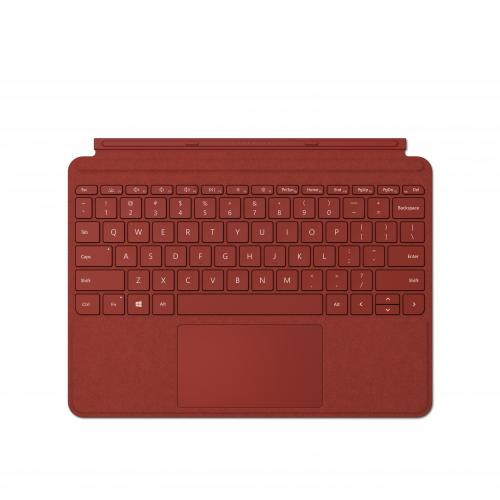 Microsoft Surface Go Signature Type Cover Poppy Red - Pair w/ Surface Go - A full keyboard experience - Close to protect screen & conserve battery - Fold back for tablet mode - Made w/ Alcantara material