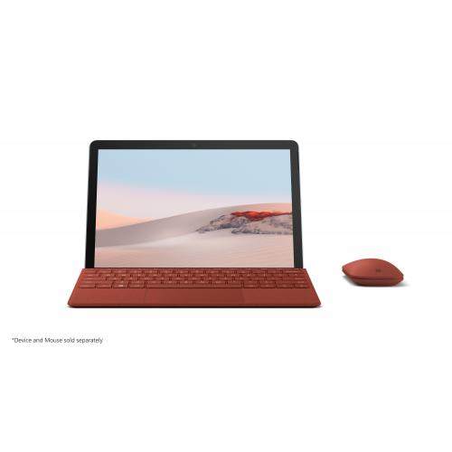 Microsoft Surface Go Signature Type Cover Poppy Red   Pair W/ Surface Go   A Full Keyboard Experience   Close To Protect Screen & Conserve Battery   Fold Back For Tablet Mode   Made W/ Alcantara Material