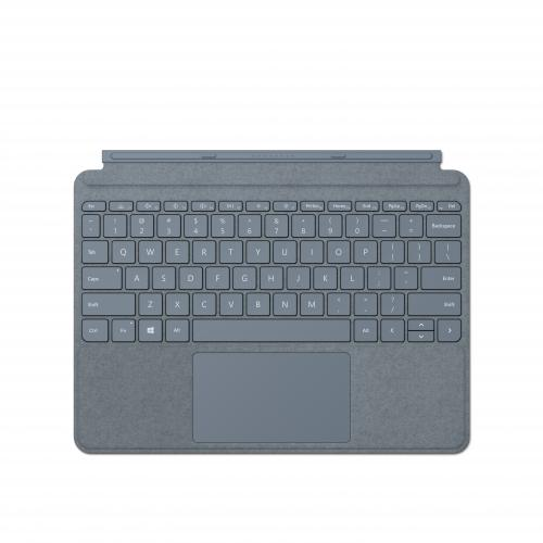 Microsoft Surface Go Signature Type Cover Ice Blue - Pair w/ Surface Go - A full keyboard experience - Close to protect screen & conserve battery - Fold back for tablet mode - Made w/ Alcantara material