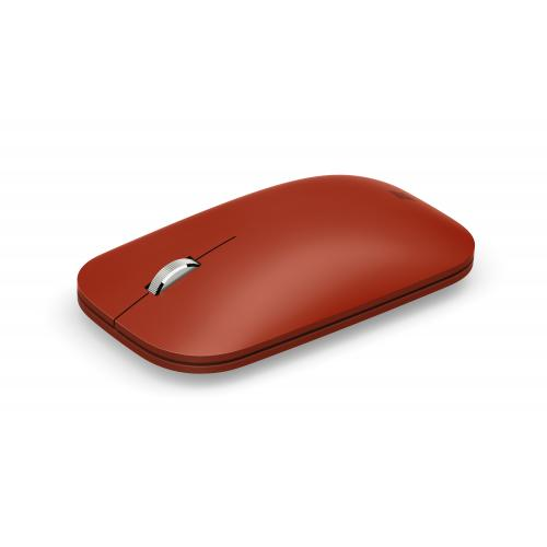 Microsoft Surface Mobile Mouse Poppy Red - Wireless - Bluetooth - Seamless scrolling - Light & portable - BlueTrack enabled