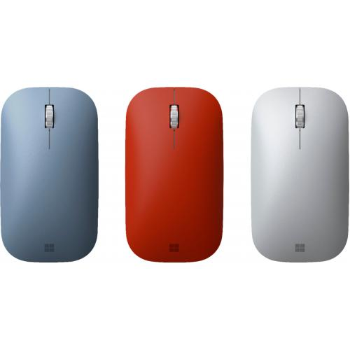 Microsoft Surface Mobile Mouse Poppy Red   Wireless   Bluetooth   Seamless Scrolling   Light & Portable   BlueTrack Enabled