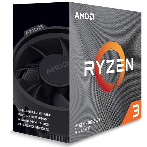 AMD Ryzen 3 3100 Unlocked Desktop Processor w/ Wraith Stealth Cooler - 4 cores & 8 threads - Unlocked for Overclocking - 18MB GameCache - PCIe 4.0 Ready - 7nm Process Technology