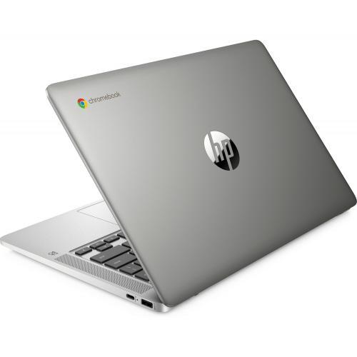 "HP 14 14"" Chromebook Intel Celeron N4000 4GB RAM 32GB EMMC Mineral Silver   Intel Celeron N4000 Dual Core   Intl UHD Graphics 600   2 SuperSpeed USB Type C 5Gbps   Chrome OS   13 Hr 30 Min Battery Life"