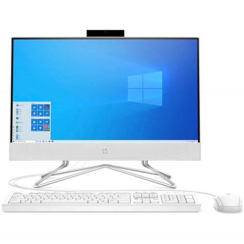 "HP 22 Series 21.5"" All-in-One Desktop Computer AMD Athlon 3050U 4GB RAM 256GB SSD Snow White - AMD Athlon 3050U Dual-core - HP USB Keyboard & Mouse included - 2 SuperSpeed USB Type-A - Webcam w/ Dual Array Digital Microphone - Windows 10 Home"