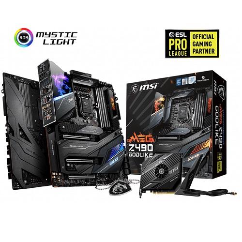 MSI MEG Z490 GODLIKE Gaming Motherboard - Intel Chipset - LGA 1200 Socket - 128 GB DDR4 SDRAM - 4 x DIMM Memory Slots - 6 x SATA 6 Gb/s