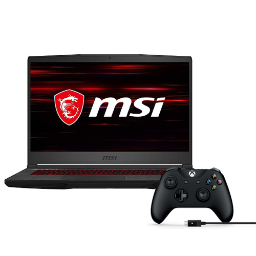 "MSI GF65 15.6"" Gaming Laptop Core i5 8GB RAM 512GB SSD 120Hz RTX 2060 6GB + Xbox Wireless Controller and Cable for Windows"