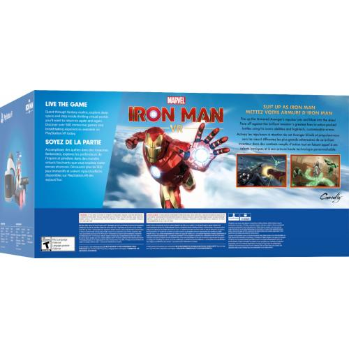 PlayStation VR Marvel's Iron Man VR Bundle   PlayStation VR Headset Included   2 MOVE Controllers Included   PlayStation Camera Included   Iron Man VR Game Included