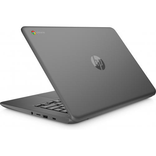 "HP Chromebook 14"" Intel Celeron N3350 4GB RAM 32GB EMMC Chalkboard Gray   Intel Celeron N3350 Dual Core   Intel HD Graphics 500   USB 3.1 Connector   Audio By B&O   11 Hr 30 Min Battery Life"