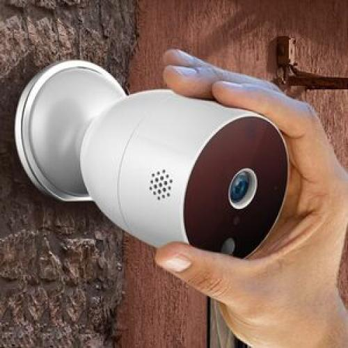 Open Box: Wireless HD Smart Home Indoor/Outdoor Security Camera With Motion Detection, Night Vision, 2 Way Audio, Alkaline/Lithium AA Battery Operated (ASHBC01F)