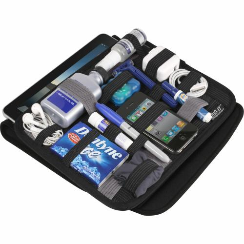 """Open Box: GRID IT! Wrap 10 For IPad/Tablets   Tablet Slips Into The Back Pocket   GRID IT! Organizer On Front   Neoprene Cover   Stretches To Accommodate Bulkier Items   9.25""""H X 11.25""""W X 1.25""""D"""