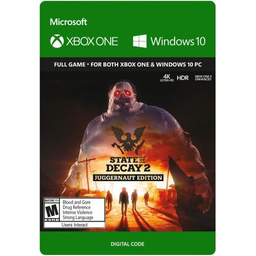 State of Decay 2 Juggernaut Edition (Digital Download) - For Xbox One and & Windows 10 PC - Full game download included - Play solo or team up with up to 3 friends - Open world survival fantasy