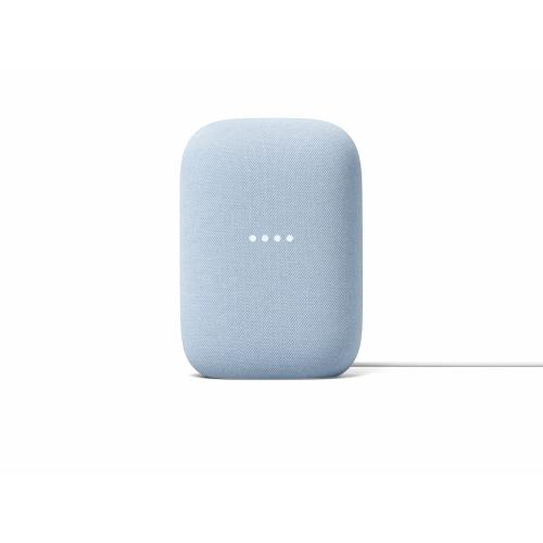 Google Nest Audio Sky - Google Assistant built in - Quad-core A53 1.8 GHz Processor - Stream music with your voice - Control smart devices hands-free - Made with recycled materials