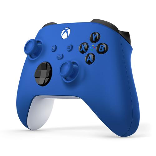 Xbox Wireless Controller Shock Blue   Wireless & Bluetooth Connectivity   New Hybrid D Pad   New Share Button   Featuring Textured Grip   Easily Pair & Switch Between Devices