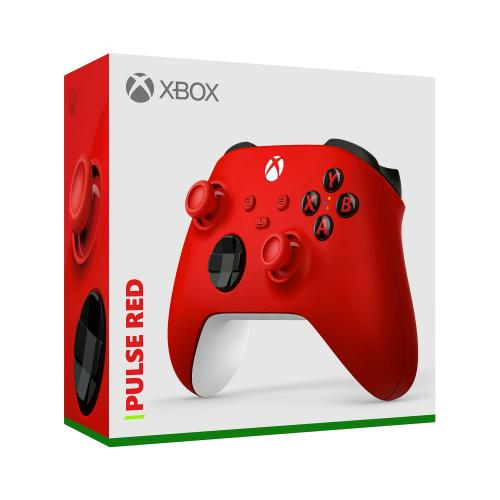 Xbox Wireless Controller Pulse Red   Wireless & Bluetooth Connectivity   New Hybrid D Pad   New Share Button   Featuring Textured Grip   Easily Pair & Switch Between Devices