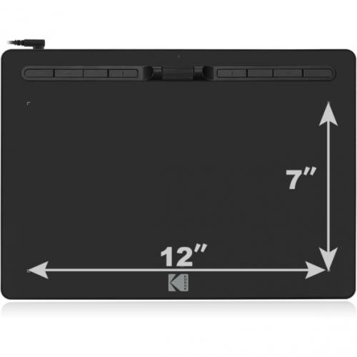 "Open Box: Kodak CyberTablet HD Graphic Tablet F12   12"" X 7"" Active Area   8192 Pressure Level   5080 Lpi   Pen Included"