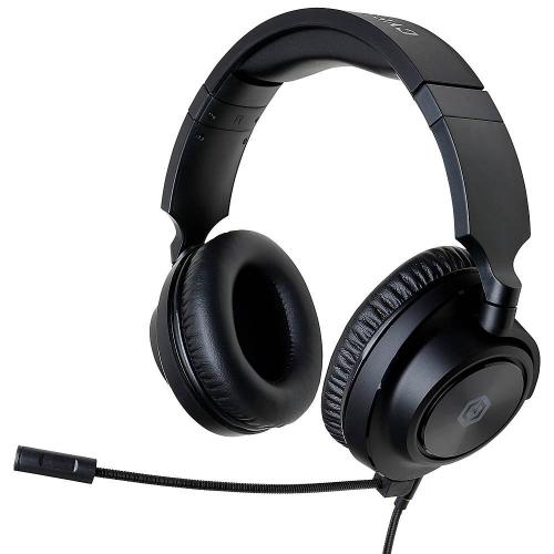 CyberPowerPC Spectre 01 Wired Stereo Gaming Over-the-Ear Headset - For PC, Mac, PS4, Xbox One, Switch and Select Mobile - 3.5mm audio jack - 90 degree swivel earcups - Steel-reinforced frame - Detachable microphone