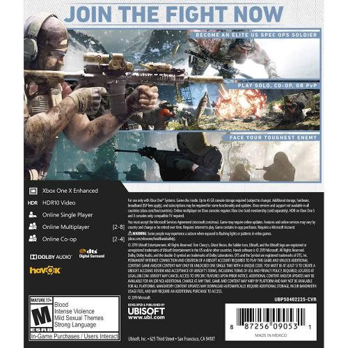 Tom Clancy's Ghost Recon Breakpoint Standard Edition   Xbox One/ Xbox Series X   ESRB Rated M (Mature)   Action/Adventure Game   Single Player