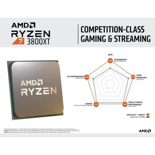 AMD Ryzen 7 3800XT Unlocked Desktop Processor + Far Cry 6 Ryzen Token Code   (1) One Ryzen Token Code (email Delivery)   8 Cores & 16 Threads   3.9 GHz  4.7 GHz Clock Speed   PCIe 4.0 Ready   7nm Process Technology   Without Cooler