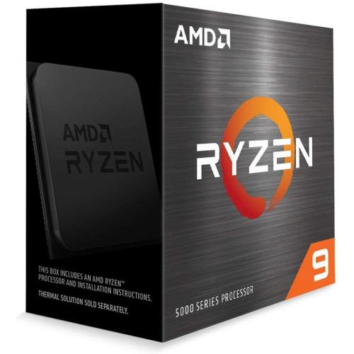 AMD Ryzen 9 5900X 12-core 24-thread Desktop Processor - 12 cores & 24 threads - 3.7 GHz- 4.8 GHz CPU Speed - 70MB Total Cache - PCIe 4.0 Ready - Without Cooler