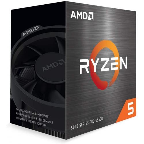 AMD Ryzen 5 5600X 6-core 12-thread Desktop Processor - 6 cores & 12 threads - 3.7 GHz- 4.6 GHz CPU Speed - 35MB Total Cache - PCIe 4.0 Ready - Wraith Stealth Cooler Included