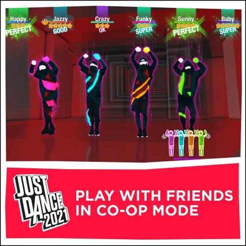 Just Dance 2021 PS4   For PlayStation 4   ESRB Rated E (Everyone)   Music, Dance, & Fitness Game   Single & Multiplayer Supported