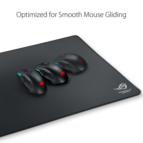 """ASUS ROG Sheath Gaming Mouse Pad Black   Non Slip Rubber Base   Anti Fraying Stitched Frame   35x17"""" Surface Area   Pixel Precise Tracking"""