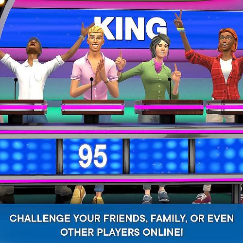 Family Feud PS4   For PlayStation 4   ESRB Rated E (Everyone)   Single & Multiplayer Supported   Kids And Family Game   Play Against Others Across The World!