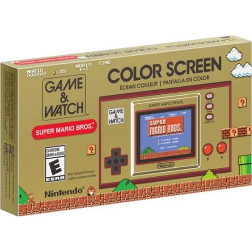 """Nintendo Game & Watch Super Mario Bros. - Game & Watch Style Handheld System - Full Color 2.36"""" LCD Screen - Feat. Digital Clock w/ 35 animations - Super Mario Brothers pre-installed"""