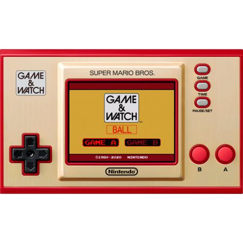 """Nintendo Game & Watch Super Mario Bros.   Game & Watch Style Handheld System   Full Color 2.36"""" LCD Screen   Feat. Digital Clock W/ 35 Animations   Super Mario Brothers Pre Installed"""