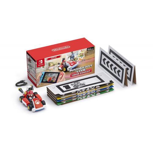 Nintendo Switch Mario Red & Blue Edition + Mario Kart Live: Home Circuit Mario Set Edition + Nintendo Game & Watch Super Mario Bros. + Super Mario 3D World + Bowser's Fury