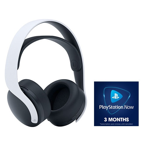PlayStation 5 PULSE 3D Wireless Gaming Headset + PlayStation NOW 3 Month Subscription (Digital Download)