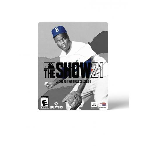 MLB The Show 21 Jackie Robinson Deluxe Edition  PS4 With PS5 Entitlement   For PS4 W/ PS5 Entitlement   ESRB Rated E (Everyone)   Releases 4/16/2021   Sports Game   Play As All  New Legends!