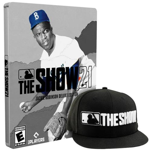 MLB The Show 21 Jackie Robinson Deluxe Edition- PS4 with PS5 Entitlement - For PS4 w/ PS5 Entitlement - ESRB Rated E (Everyone) - Releases 4/16/2021 - Sports Game - Play as all- new legends!